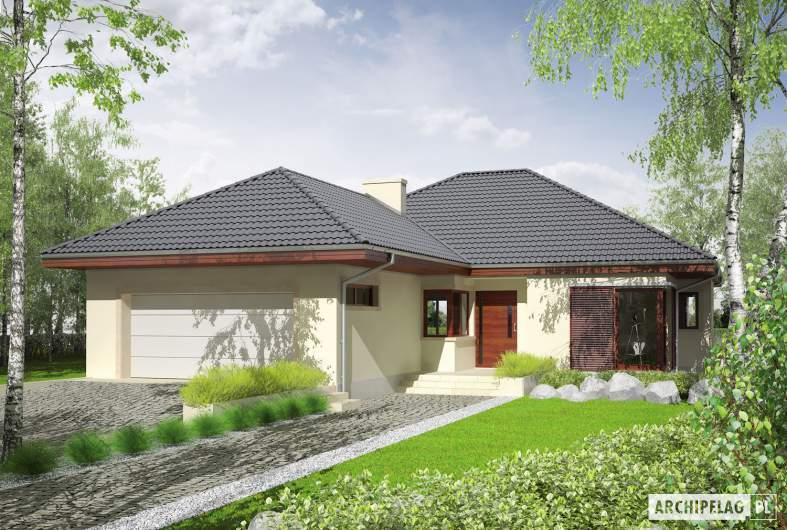 Projekt domu Dylan G2 - wizualizacja frontowa