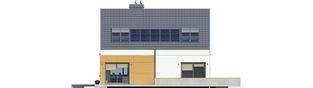 Projekt domu Edgar G1 ENERGO - elewacja tylna