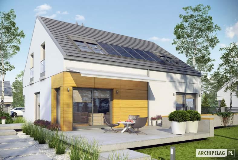Projekt domu Edgar G1 ENERGO - Projekty domów ARCHIPELAG - Edgar G1 ENERGO  - wizualizacja ogrodowa