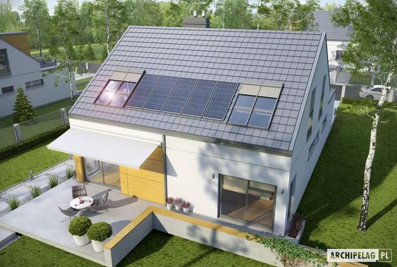 Projekt domu Edgar G1 ENERGO - Projekty domów ARCHIPELAG - Edgar G1 ENERGO  - widok z góry