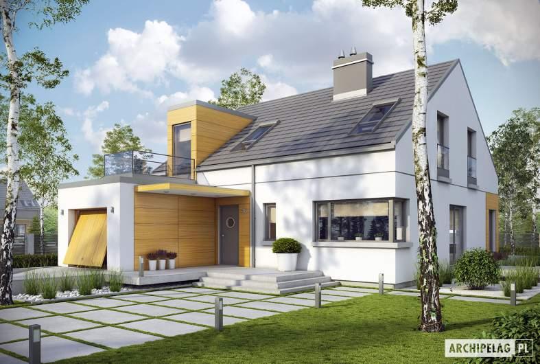 Projekt domu Edgar G1 ENERGO - Projekty domów ARCHIPELAG - Edgar G1 ENERGO - wizualizacja frontowa