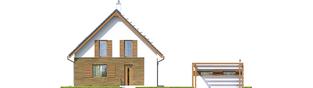 Projekt domu Julian W2 (szkielet) - elewacja frontowa