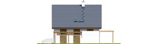 Projekt domu Julian W2 (szkielet) - elewacja prawa