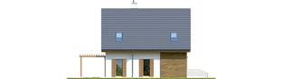 Projekt domu Julian W2 (szkielet) - elewacja lewa