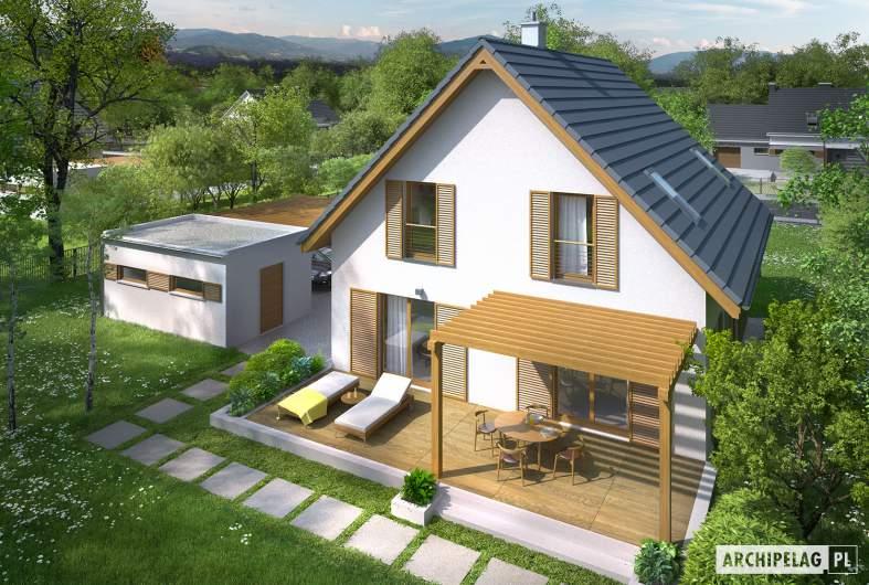 Projekt domu Julian W2 (szkielet) - widok z góry