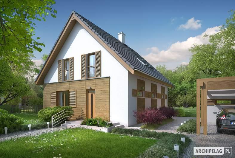Projekt domu Julian W2 (szkielet) - wizualizacja frontowa