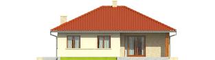 Projekt domu Manuela II - elewacja tylna