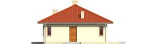 Projekt domu Manuela II - elewacja prawa