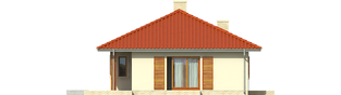 Projekt domu Manuela II - elewacja lewa