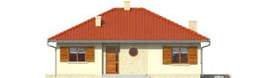 Projekt domu Manuela II - elewacja frontowa