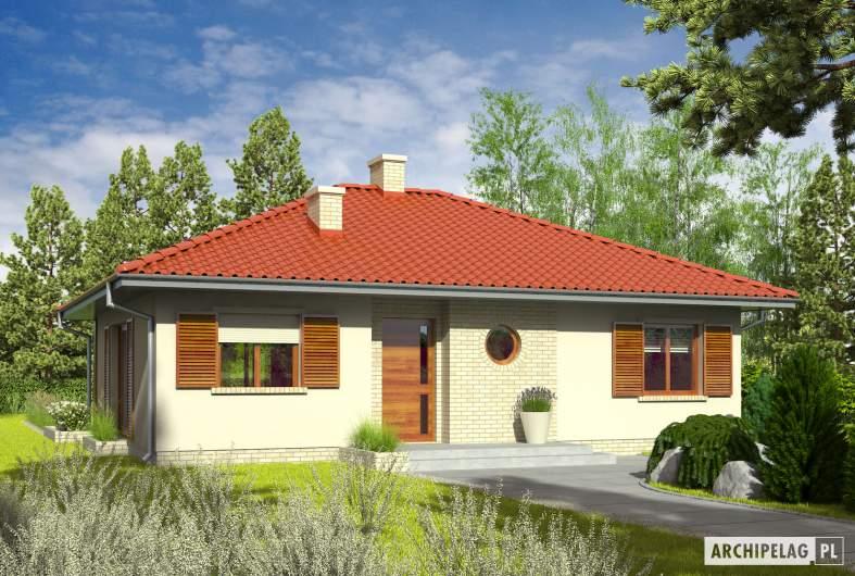 Projekt domu Manuela II - wizualizacja frontowa
