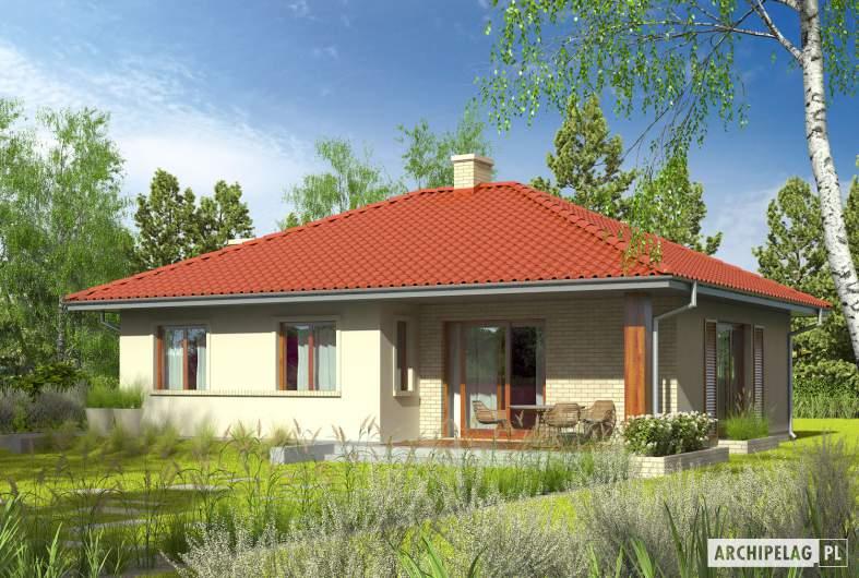 Projekt domu Manuela II - wizualizacja ogrodowa
