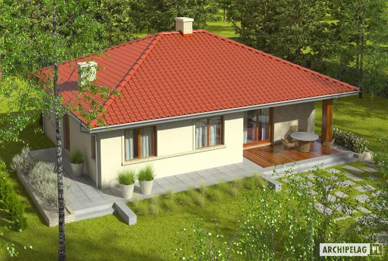 Projekt domu Manuela II - widok z góry