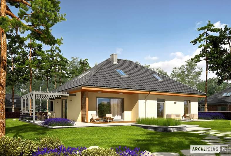 Projekt domu Astrid III G2 - Projekty domów ARCHIPELAG - Astrid III G2 - wizualizacja ogrodowa