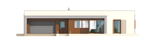 Projekt domu EX 8 G2 (wersja C) soft - elewacja frontowa