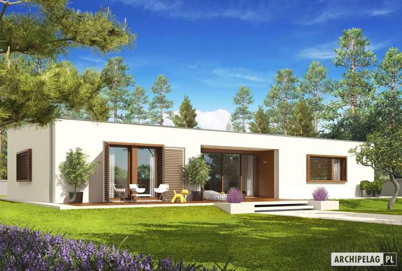 Projekt domu EX 8 G2 (wersja C) soft - wizualizacja ogrodowa