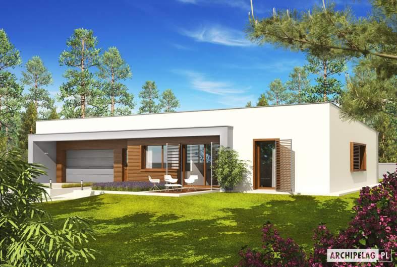 Projekt domu EX 8 G2 (wersja C) soft - wizualizacja frontowa