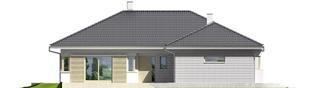 Projekt domu Morgan II G1 - elewacja frontowa
