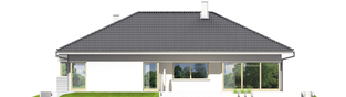 Projekt domu Morgan II G1 - elewacja tylna