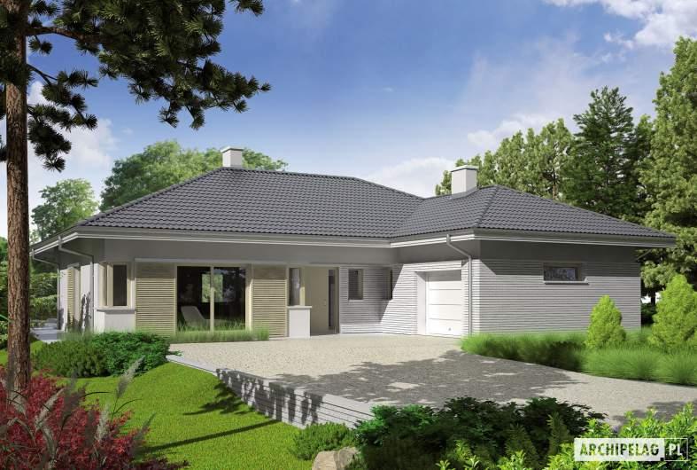 Projekt domu Morgan II G1 - wizualizacja frontowa