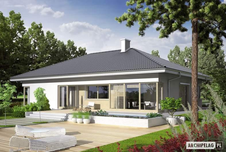 Projekt domu Morgan II G1 - wizualizacja ogrodowa