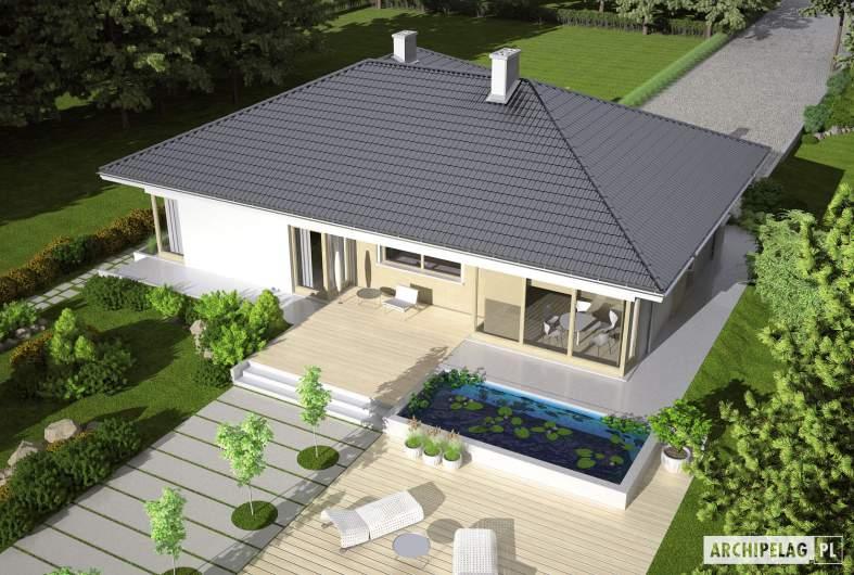 Projekt domu Morgan II G1 - widok z góry