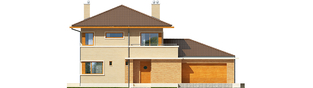 Projekt domu Rodrigo IV G2 - elewacja frontowa