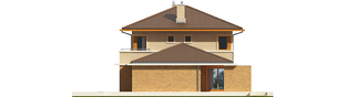 Projekt domu Rodrigo IV G2 - elewacja prawa