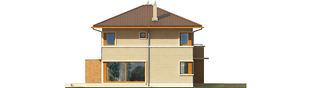 Projekt domu Rodrigo IV G2 - elewacja lewa