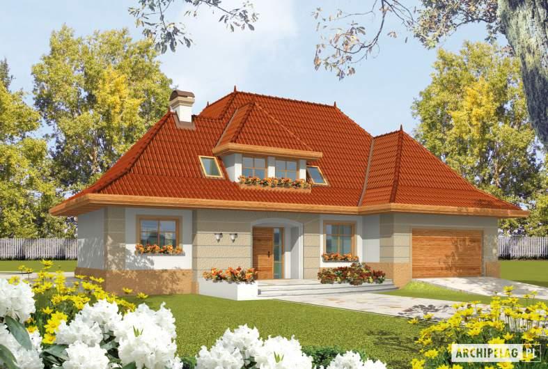 Projekt domu Marcelina G2 - wizualizacja frontowa