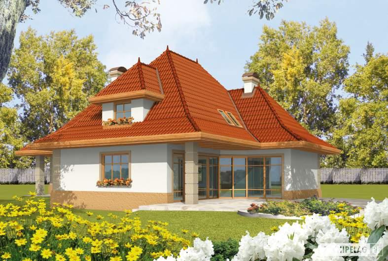Projekt domu Marcelina G2 - wizualizacja ogrodowa