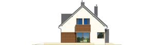 Projekt domu Mati - elewacja lewa