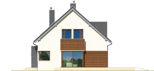 Mati - Projekt domu Mati - elewacja lewa