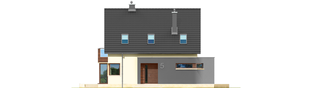 Projekt domu Mati - elewacja frontowa