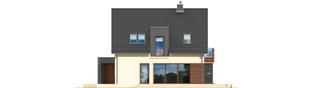 Projekt domu Mati - elewacja tylna