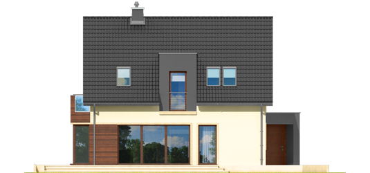 Mati - Projekt domu Mati - elewacja tylna