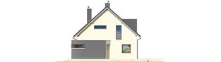 Projekt domu Mati - elewacja prawa
