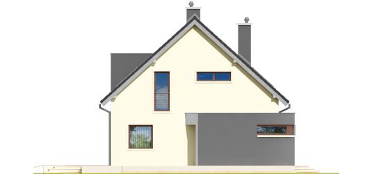 Mati - Projekt domu Mati - elewacja prawa