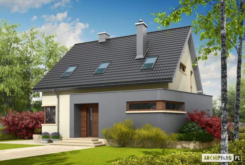 Projekt domu Mati - wizualizacja frontowa