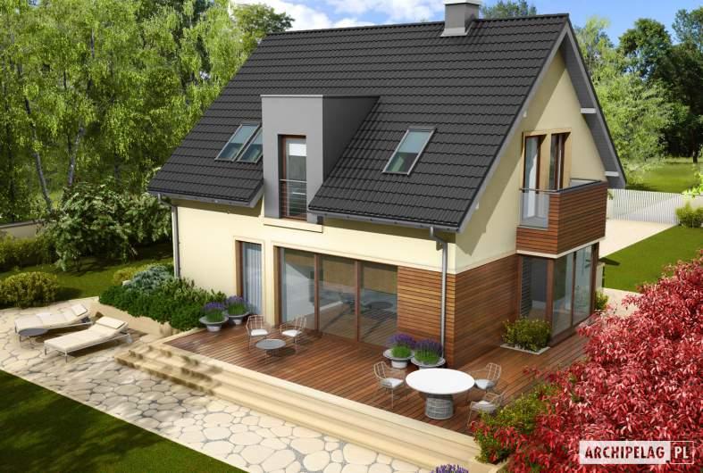 Projekt domu Mati - widok z góry