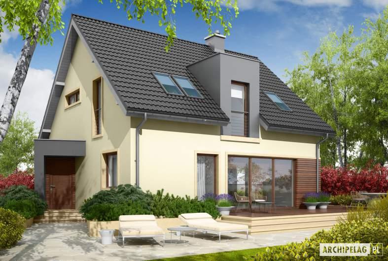 Projekt domu Mati - wizualizacja ogrodowa