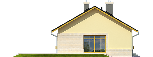 Erin IV - Projekty domów ARCHIPELAG - Erin IV - elewacja lewa