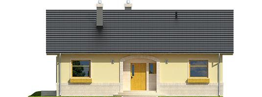 Erin IV - Projekty domów ARCHIPELAG - Erin IV - elewacja frontowa