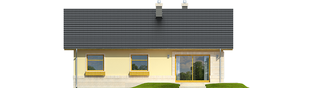 Projekt domu Erin IV - elewacja tylna