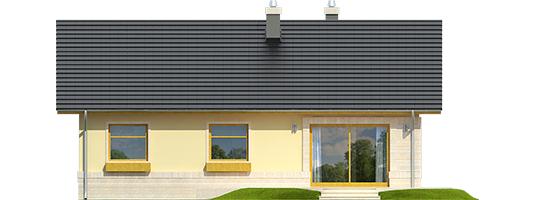 Erin IV - Projekty domów ARCHIPELAG - Erin IV - elewacja tylna