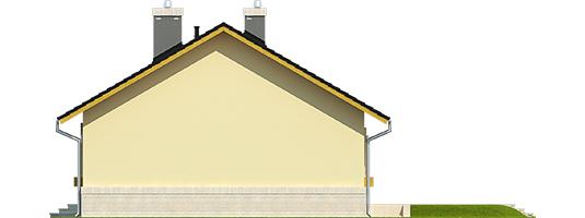 Erin IV - Projekty domów ARCHIPELAG - Erin IV - elewacja prawa