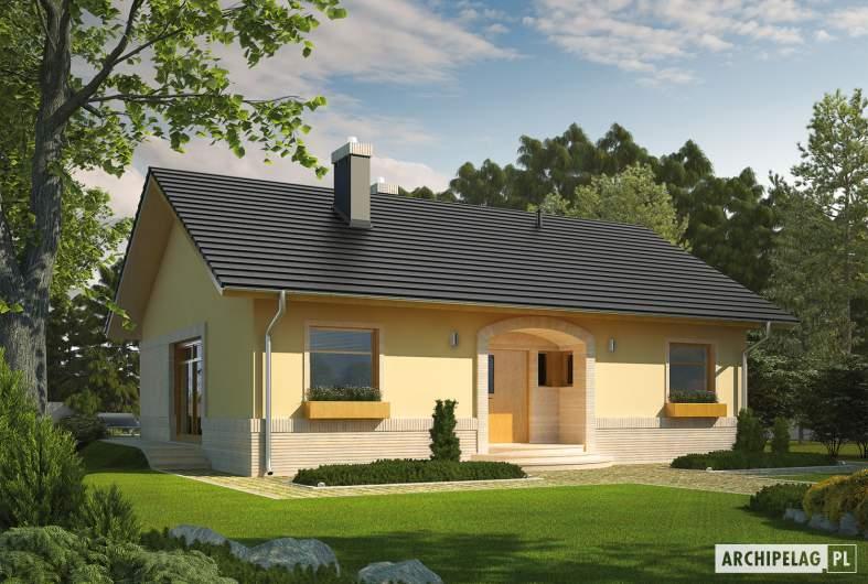 Projekt domu Erin IV - Projekty domów ARCHIPELAG - Erin IV - wizualizacja frontowa