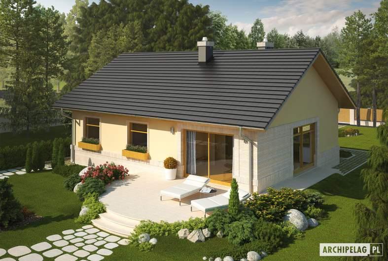 Projekt domu Erin IV - Projekty domów ARCHIPELAG - Erin IV - widok z góry