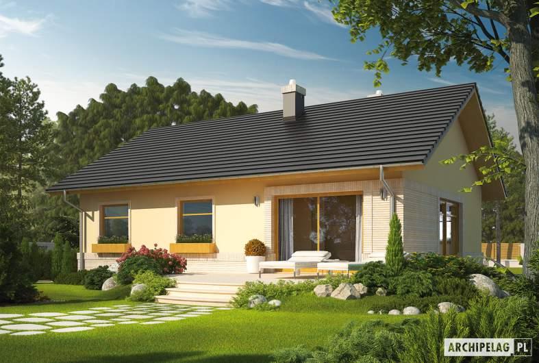 Projekt domu Erin IV - Projekty domów ARCHIPELAG - Erin IV - wizualizacja ogrodowa