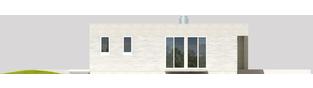 Projekt domu EX 6 (z wiatą) ENERGO PLUS - elewacja lewa